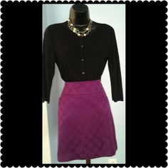 """Ann Taylor Skirt Beautiful mauve colored lined skirt with side pockets. Measures 18"""" long. Zipper is on the side. Made of rayon and polyester. Ann Taylor Skirts Mini"""
