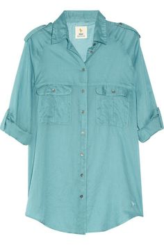 MiH jeans safari cotton-voile top