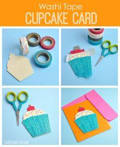 Washi Tape Cupcake Card