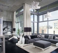 A living room in gray or white is a sign of modern interior design. We will show you some outstanding gray living room designs which impress with stylish Masculine Living Rooms, Living Room Grey, Living Room Modern, Home And Living, Living Room Furniture, Living Room Designs, Living Room Decor, Grey Furniture, Small Living