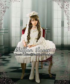 fanplusfriend - Chiffon Lover, Classic Lolita Empire Waist Basic Frilly JSK/Dress*5colors, $85.00 (http://www.fanplusfriend.com/chiffon-lover-classic-lolita-empire-waist-basic-frilly-jsk-dress-5colors/)