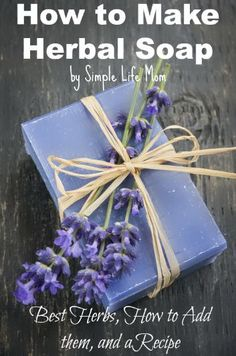 I teach you how to make herbal soap, by helping you choose the best herbs and method for adding them to your soap. Autogenic Training, Homemade Soap Recipes, Homemade Paint, Wild Edibles, Beauty Recipe, Nature Crafts, Handmade Soaps, Diy Soaps, Home Made Soap