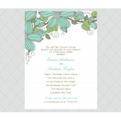 Flower Rehearsal Dinner Invitations - Style 573
