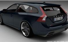 volvo v8 concept design. Gr8 looking design w spectacular lookin wheels. Wheels r gray centers w chrome lip.