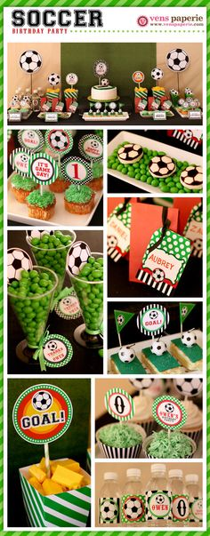 DIY PRINTABLE Soccer Birthday Party