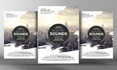 Electro Sound Party Flyer Template by Business Templates on Creative Market