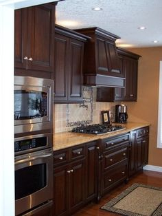 Cherry kitchen love color of cabinets