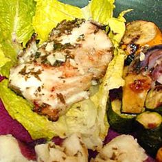Grilled Sea Bass-  Everyone Loved this dish - used grated lemon and juice instead of lemon pepper - Sea Bass is excellent!