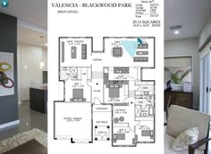 Rossdale homes - Valencia bathrooms 2 | bedrooms 4 | parking 2 width 16.91m depth 18.47m