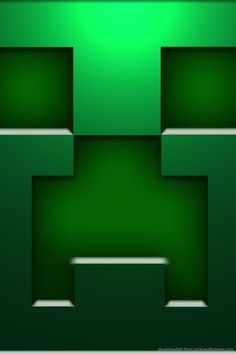 Download Minecraft Creeper Face Wallpaper For iPhone 4