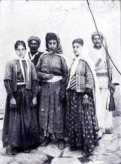 Iran is the beginning of the twentieth century in the lens of Anton Sevryugin.  Part 1. Group portrait of Chaldean men and women , 1901.