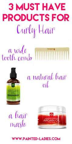 3 MUST HAVE products for curly hair care!