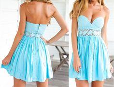Sexy V-neck lace stitching princess dress #AD51205YT