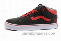 8b6915d44b Vans TNT Gray Red Womens Shoes Discount H4tsx