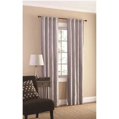 Mainstays Crushed Microfiber Curtain Panel, Set of 2
