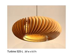 Pendant Lighting Turbine 525L  laser cut by rusticluxmodern, $188.00