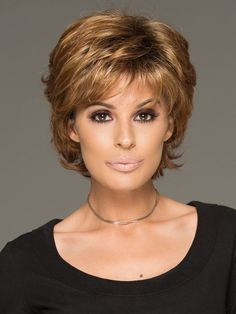 From spiky to softer this short wig is designed to compliment many age ranges