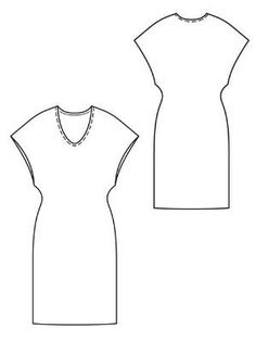 Burda PDF dress pattern no longer free, but great basic to have. Sewing Patterns Free, Free Sewing, Dress Patterns, Fashion Sketch Template, Vestidos Vintage, Diy Dress, Sewing Techniques, Sewing Clothes, Simple Dresses