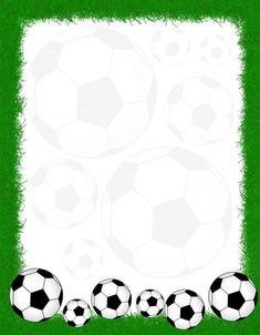 Papier à lettre ballons de foot: