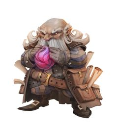 m Dwarf Wizard traveler pouches Scrolls Old Male Occultist OR Wizard - Pathfinder PFRPG DND D&D d20 fantasy