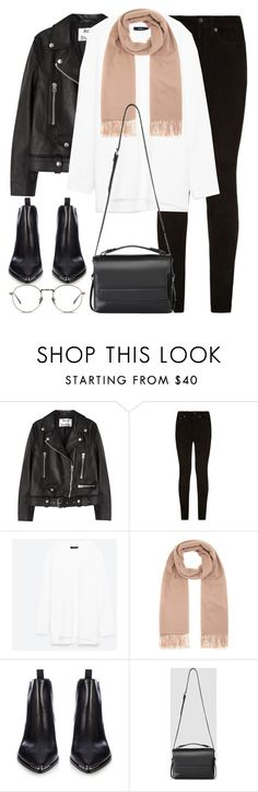 """""""Untitled #2880"""" by elenaday ❤ liked on Polyvore featuring Acne Studios, rag & bone, AllSaints and Linda Farrow"""