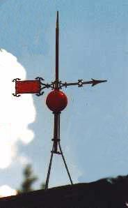 lightning rod balls | ... lightning rods along the rooflines. They are copper with really