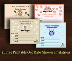 11 free printable owl baby shower invitations templates