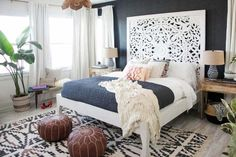 """Audrina Patridge's Southern California home is a far cry from the apartment she once lived in with Lauren Conrad. Patridge worked with designer Ashley Redmond of Decorist to create her dream bedroom, which she told People she wanted to feel like a """"Bali bungalow""""."""