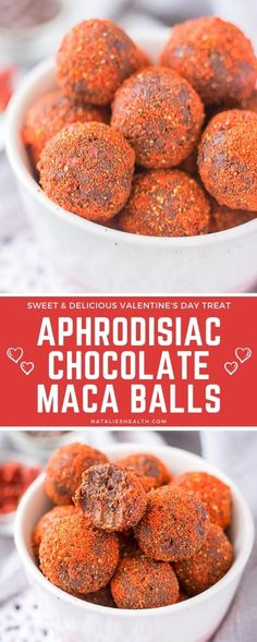 Chocolate Maca Balls are a perfect treat - sweet, chewy, and delicious, loaded with amazing dark chocolate flavor and aphrodisiac benefits of MACA. They are an easy-to-make that will satisfy your sweet tooth and uplift your mood.