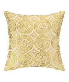 Look what I found on #zulily! Citron Springtime Soiree Medallions Embroidered Throw Pillow #zulilyfinds
