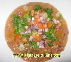 Lebanese Foul (fava beans)