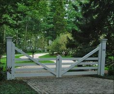 Morgan Four Rail Farm Gate from Walpole Outdoors. Browse our large selection of Entry Gates, Automatic Gates, and Security Gates. Tor Design, Gate Design, Front Gates, Entry Gates, Farm Entrance Gates, Entrance Halls, Entrance Ideas, Farm Fence, Fence Gate
