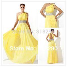 Vestidos de fiesta largos en color amarillo