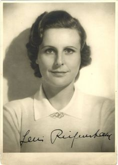 Autographed photo of Leni Riefenstahl, possibly the best German film director of all time.