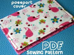 Tutorial Pattern Passport Cover Holder PDF by BreeLeeD on Etsy