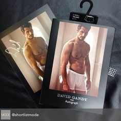 """""""Regram via @shortlistmode: """"Designed and modelled by @davidgandy_official - the exclusive men's underwear and sleepwear collection available this Thursday…"""""""