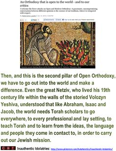 """""""Chosen People"""" Idolatry:  The second pillar of Open Orthodoxy, we have to go out into the world and make a difference.. - 7 -  > > > Einstein: The worship of false gods such as Yahweh is not only """"unworthy but also fatal"""", with """"incalculable harm to human progress."""" > > > Click image!"""