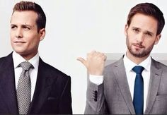 suits, mike, and gabriel macht image