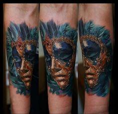 kunstvoll best vorlagen venezianisch tattoo maske