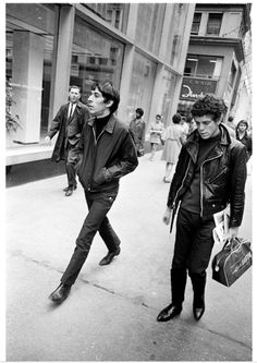 "Joel Meyerowitz: ""I've been looking for this picture for days, ever since I heard about Lou Reed's death. I shot it in 1968 on 5th ave, just casual shot of an interesting looking guy, only to discover later on that it was Lou Reed and John Cale."""