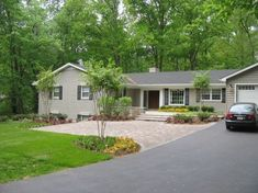 front yard turn around for parking with paving stones - Google Search