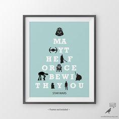 Star Wars Poster Gift for Boyfriend Star Wars Fan by WordBirdShop