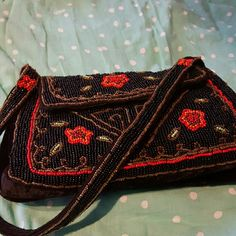 Mali Parmi Purse Purse by Mali Parmi. The bag is very beaituful. The beads on the bag are put together and beautifullly placed. Very soft velvet black color. Vintage style purse. Mali Parmi Other