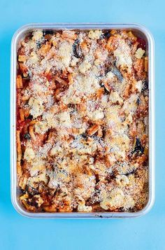 An easy one-tin pasta bake recipe with roasted aubergine, courgette and creamy Boursin cheese, this makes a great vegetarian comfort food dish. Ready in under an hour, it's perfect for a quick midweek dinner. Baked Pasta Recipes, Veggie Recipes, Baking Recipes, Vegetarian Recipes, Veggie Dinners, Savoury Recipes, Aubergine Recipe, Vegetarian Comfort Food, Roasting Tins