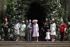 Meghan's mum stands with Royal Family on steps of St George's Chapel | Daily Mail Online
