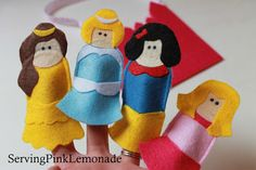 Serving Pink Lemonade: Princess Finger Puppets