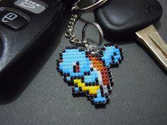 Squirtle Pixel Keychain by Pixelosis.deviantart.com on @DeviantArt