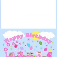 Printable Pink Birthday Train Card! How cute is this? Simply download, print, and repin.