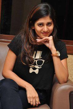 Chandini Chowdary Stills In Black Dress - Tollywood Stars