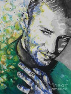 Justin Timberlake...01 Painting  - Justin Timberlake...01 Fine Art Print